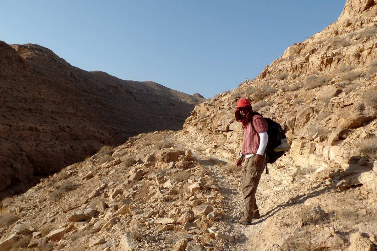 Camel routes are great for hiking. The unmarked trail of wadi Radum