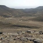 The Edom Route enters Kina wadi. View from Uza ruins