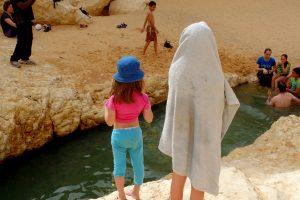 טבילה בגב ימין